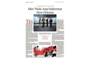 News article NOLA by Bert Jansma in Den Haag Centraal