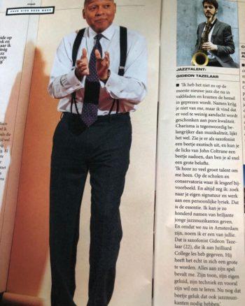 article Volkskrant Wynton on Gideon